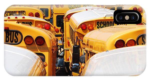 Yellow School Bus IPhone Case
