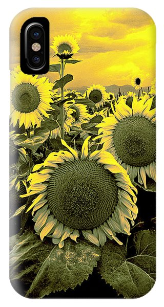 Yellow Sky Yellow Flowers. IPhone Case