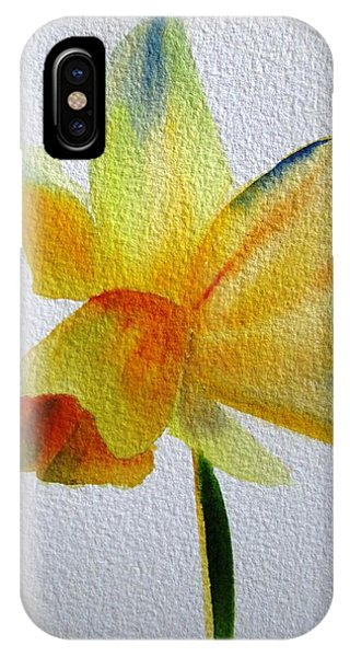 Yellow Spring Daffodil Phone Case by Sacha Grossel