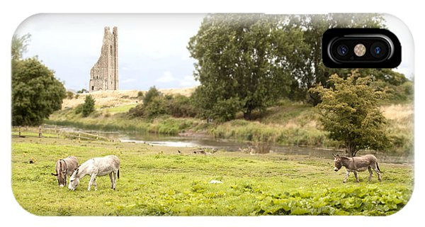 Yellow Steeple Amidst Meath Ireland IPhone Case