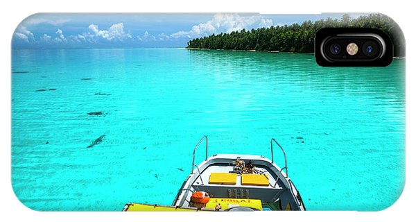 Micronesia iPhone Case - Yellow Sundeck Of A Boat In The Ant by Michael Runkel