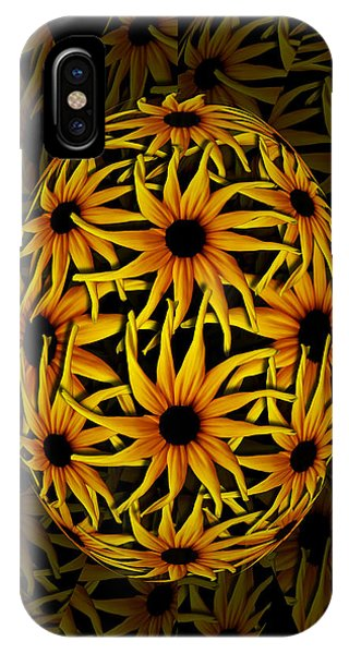 Yellow Sunflower Seed IPhone Case
