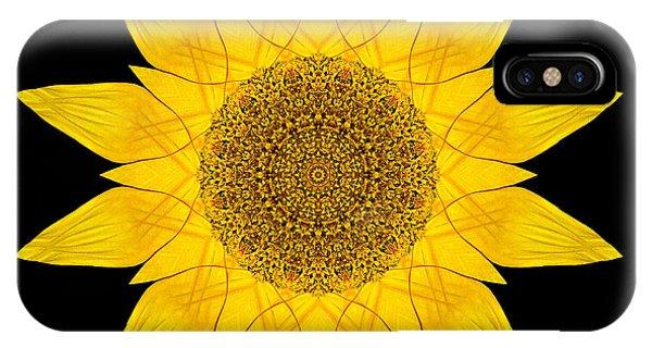 Yellow Sunflower X Flower Mandala IPhone Case