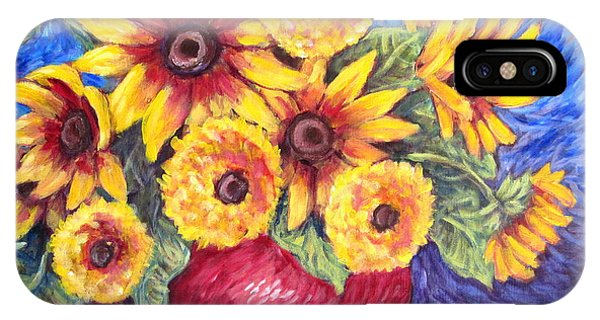 Yellow Sunflowers IPhone Case