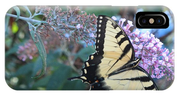 Yellow Swallowtail Butterfly Phone Case by Debbie Nester