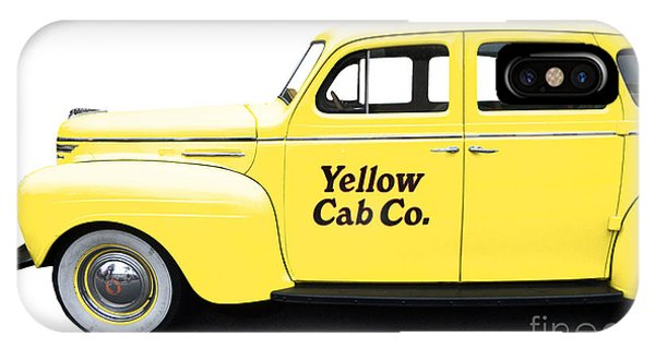 New York City Taxi iPhone Case - Yellow Taxi Cab by Edward Fielding