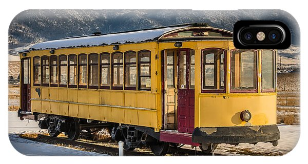 Yellow Trolley IPhone Case