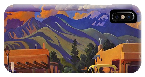 Adobe iPhone Case - A Yellow Truck In Taos by Art West