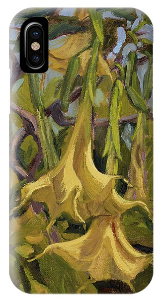 Yellow Trumpets IPhone Case