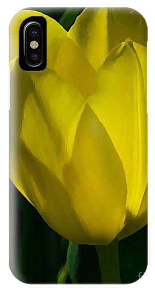 Yellow Tulip IPhone Case