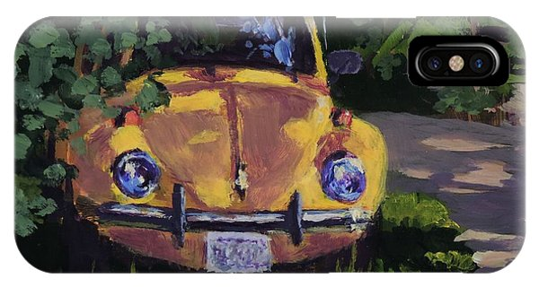 Yellow Vee Dub - Art By Bill Tomsa IPhone Case