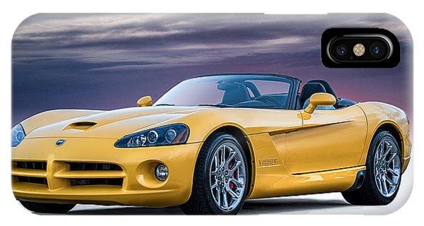 Viper iPhone Case - Yellow Viper Convertible by Douglas Pittman