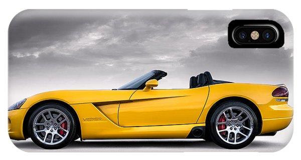 Viper iPhone Case - Yellow Viper Roadster by Douglas Pittman