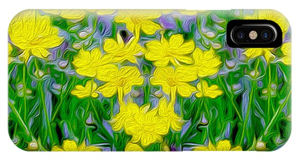 Close Up Floral iPhone Case - Yellow Wild Flowers by Jon Neidert