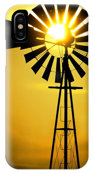 Texas iPhone Case - Yellow Wind by Jerry McElroy