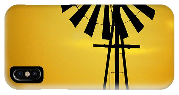 University iPhone Case - Yellow Wind by Jerry McElroy