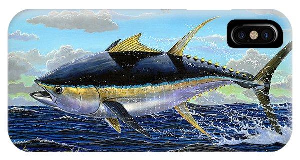 Skipjack iPhone Case - Yellowfin Crash Off0081 by Carey Chen