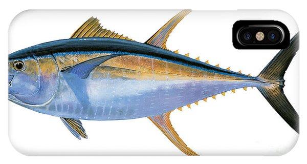 Reel iPhone Case - Yellowfin Tuna by Carey Chen