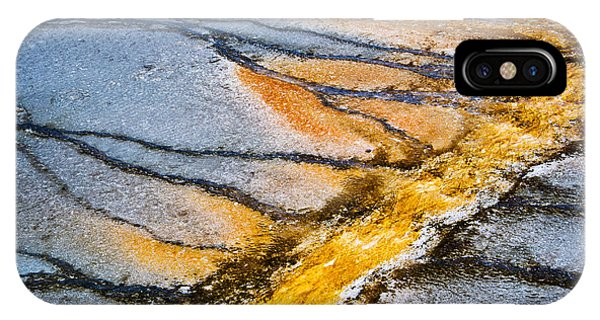 Us National Parks iPhone Case - Yellowstone Nature Abstract by Delphimages Photo Creations