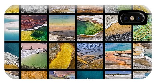 Yellowstone National Park iPhone Case - Yellowstone Colors by Delphimages Photo Creations