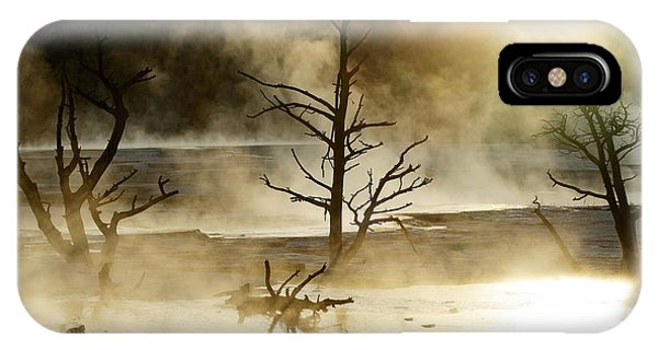Mammoth Hot Springs iPhone Case - Yellowstone by David Santiago Garcia