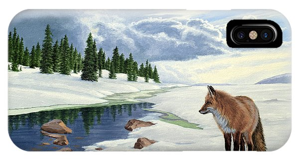 Yellowstone iPhone Case - Yellowstone Fox by Paul Krapf