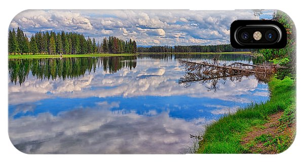 Yellowstone River Reflections IPhone Case