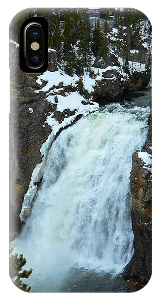Yellowstone Upper Falls In Spring IPhone Case