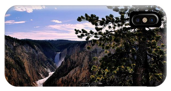 Yellowstone Waterfall IPhone Case