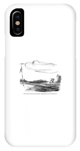 Yes, Sir, Dave. Out Here, Under The Big Sky IPhone Case