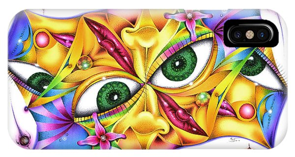 Yeux D'intervalle IPhone Case