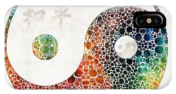 Earthy iPhone Case - Yin And Yang - Colorful Peace - By Sharon Cummings by Sharon Cummings