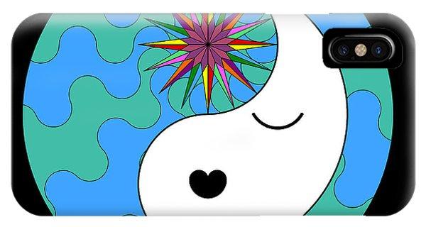 Yin Yang Crown 4 IPhone Case
