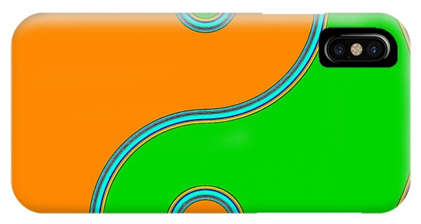 Yin Yang Orange Green Pop Art IPhone Case