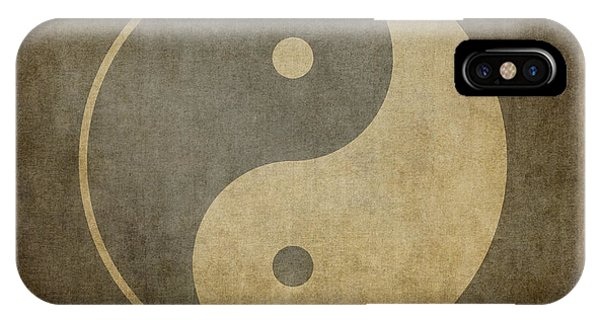 Peace iPhone Case - Yin Yang Vintage by Jane Rix