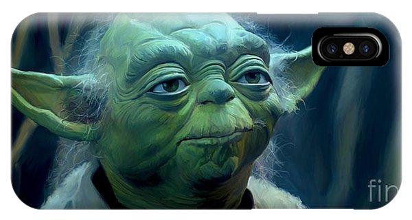 Nerd iPhone Case - Yoda by Paul Tagliamonte