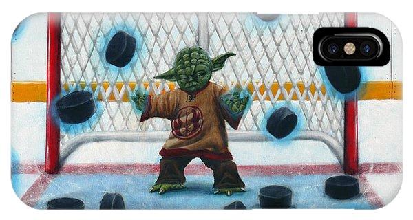 Hockey iPhone Case - Yoda Saves Everything by Marlon Huynh