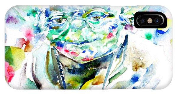 Yoda Watercolor Portrait.1 IPhone Case