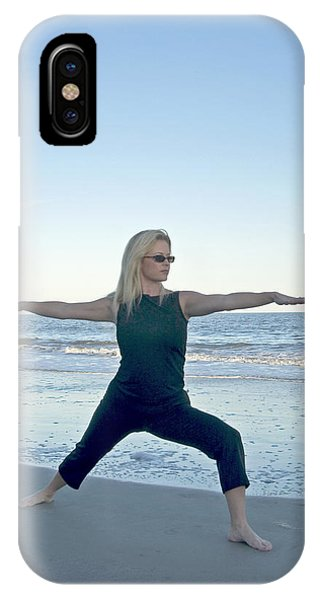 Yoga Woman On The Beach IPhone Case
