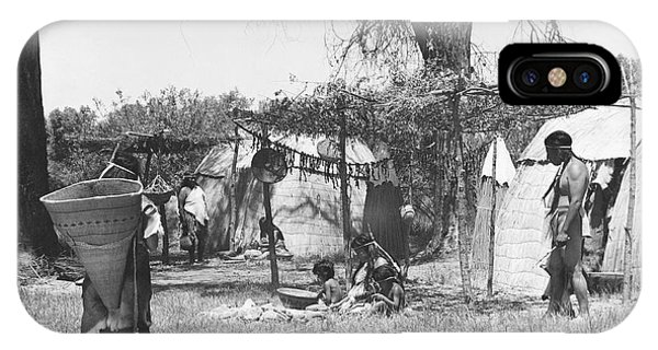 Indian Village iPhone Case - Yokut Indian Homes by Underwood Archives Onia