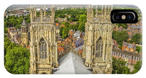 York From York Minster Tower IPhone Case