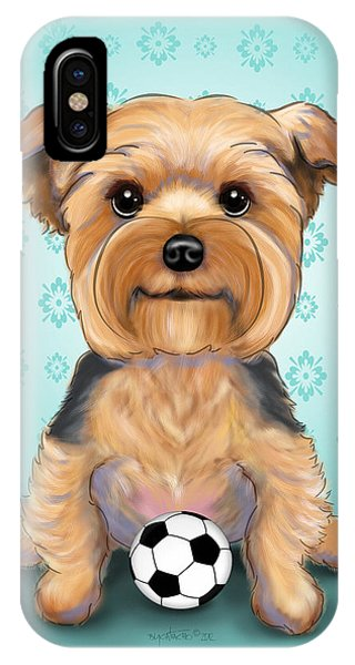 Yorkie  Baxter Hemenway IPhone Case