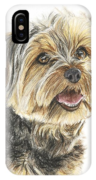 Yorkie In Color IPhone Case