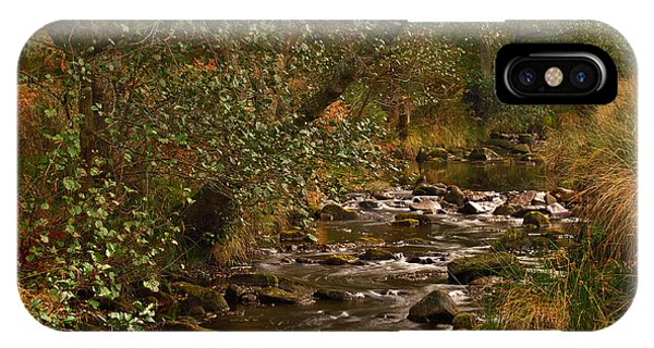 Yorkshire Moors Stream In Autumn IPhone Case