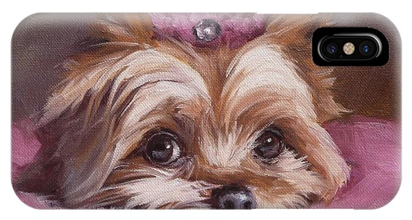 Yorkshire Terrier Princess In Pink IPhone Case