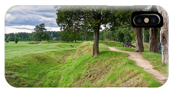 Yorktown Battlefield Earthworks IPhone Case