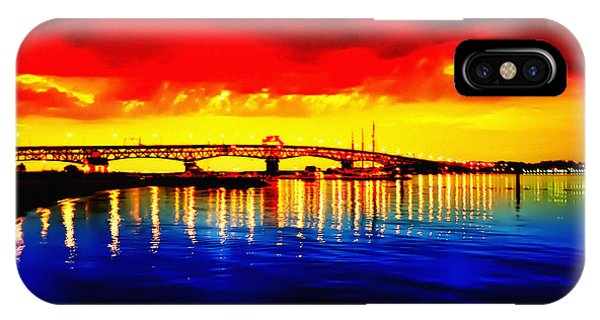Yorktown Bridge Sunset IPhone Case