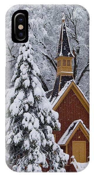 Chapel iPhone Case - Yosemite Chapel Potrait by Bill Gallagher