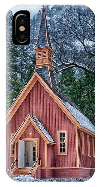 Sierra Nevada iPhone Case - Yosemite Church by Cat Connor