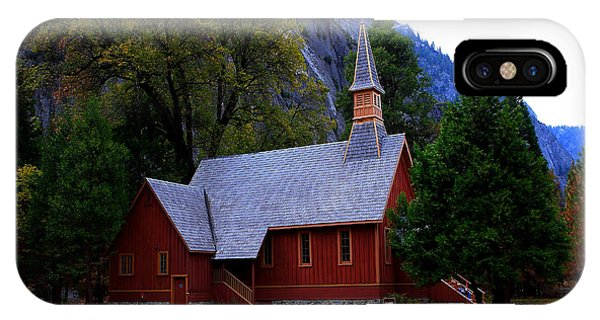 Yosemite Fall  Chapel  IPhone Case
